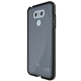 Smokey/Black Tech 21 Evo Check - LG G6 Case Angled View