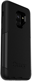 Angled Black OtterBox Galaxy A8 Commuter Case