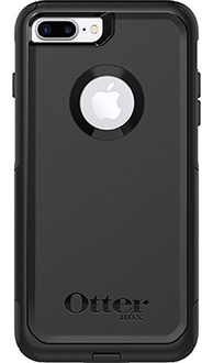 Black Otterbox iPhone 8 Plus Commuter Case Back View