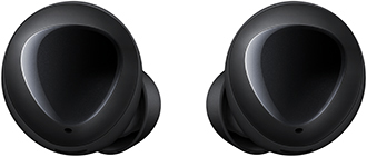 Black Samsung Galaxy Buds Back