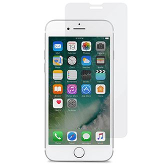 Clear Moshi Airfoil Glass - iPhone 6/6s/7/8 Screen Protector White iPhone Front View