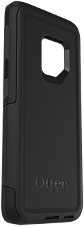 Black OtterBox Galaxy S9 Commuter Case Angled View