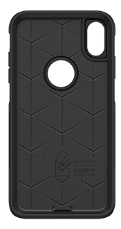 Black OtterBox iPhone Xs Max Commuter Case Front View