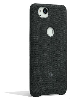Carbon Google Fabric Case (Pixel 2) Angled View