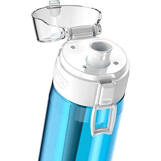 Teal Thermos Hydration Bottle Spout Close Up