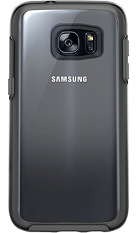 Black OtterBox Galaxy S7 Symmetry Clear Case Back View