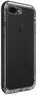 Black Crystal LifeProof iPhone 7 Plus/8 Plus NËXT Case Angled Back View