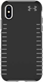 Black/Grey Under Armour Protect Grip - iPhone X Case Back View