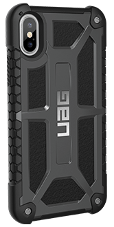 Graphite UAG Monarch - iPhone X Case Angled View