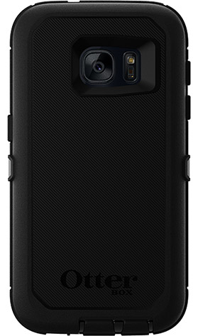 Black OtterBox Galaxy S7 Defender Case Back View