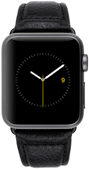 Vue avant du bracelet Case-Mate noir pour Apple Watch de 38 mm