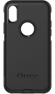 Black Otterbox iPhone X Commuter Case Back View