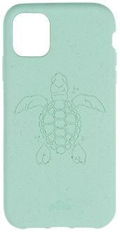 Ocean Turquoise Turtle Pela iPhone 11 Case Back