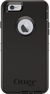 Black OtterBox iPhone 6/6S Defender Case Back View