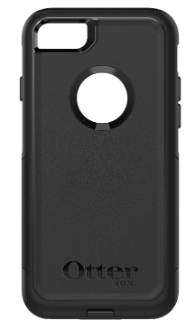 Black Otterbox iPhone 8 Commuter Case Back View