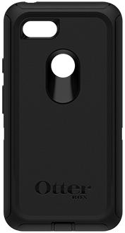 Black OtterBox Pixel 3 XL Defender Case Back