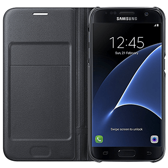 Black Samsung LED  View Cover - Galaxy S7 Case