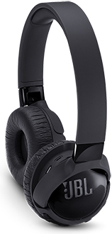 Black JBL TUNE600BTNC Headphones with Ear Cup Turned