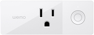 White Belkin Wemo Mini Wi-Fi Smart Plug Front