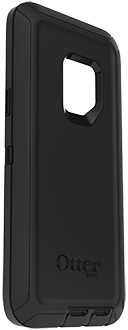Black OtterBox Galaxy S9 Defender Case Angled View