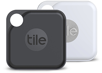 Black & White Tile Pro Bluetooth Item Trackers Front