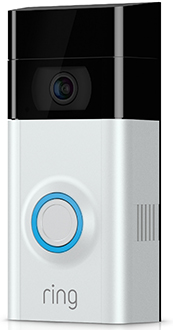 Angled Ring Video Doorbell 2 - Nickel Faceplate