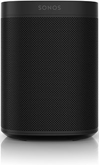 Black Sonos One Smart Speaker Front View