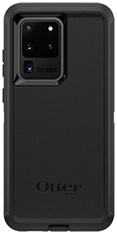 Black OtterBox Galaxy S20 Ultra 5G Defender Case Back