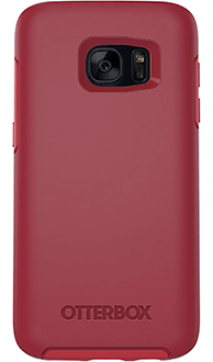 Flame Red OtterBox Galaxy S7 Symmetry Case Back View