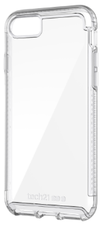 Clear Tech 21 Pure Clear - iPhone 7/8 Case Angled View