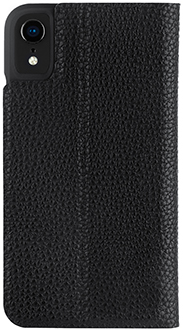 Black Case-Mate Barely There Folio iPhone XR Case Back