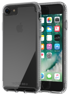 Clear Tech 21 Pure Clear - iPhone 7/8 Case Front View