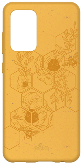 Yellow Bee Pela Galaxy A52 Case from the Back