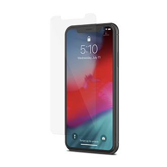 Clear Moshi Airfoil Glass - iPhone XR Screen Protector Side View