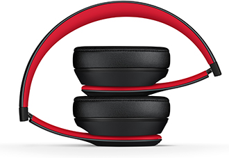 Folded Defiant Black-Red Solo3 Headphones