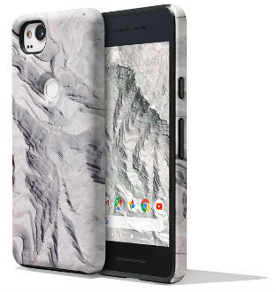 Rock Google Earth Live Case (Pixel 2) Front and Back View