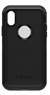 Black OtterBox iPhone X/Xs Defender Case Back