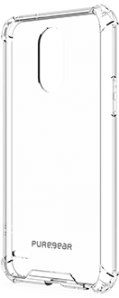 Clear PureGear Hard Shell - LG Stylo 3 Case Front View