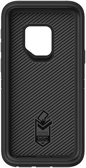 Black OtterBox Galaxy S9 Defender Case Front