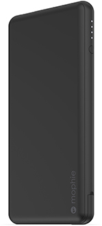 Angled Black Mophie Powerstation Plus USB-C 6000mAh
