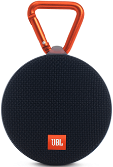 Black JBL Clip 2 Speaker Front View