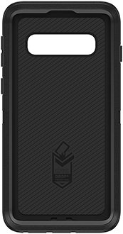 Black OtterBox Galaxy S10 Defender Case Front