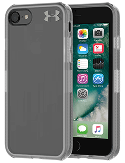 Clear Under Armour Protect Verge - iPhone 7/8 Case Angled View
