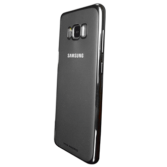 Gun Metal Viva Madrid Metalico Flex - Samsung Galaxy S8 Plus Case Angled View