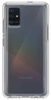 Clear OtterBox Galaxy A51 Symmetry Case Back