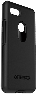 Black OtterBox Pixel 3 XL Symmetry Case Angled View