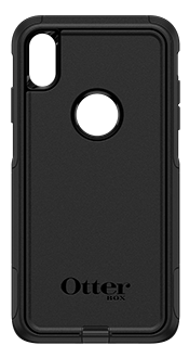 Black OtterBox iPhone Xs Max Commuter Case Back View
