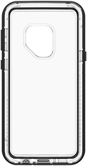 Black Crystal LifeProof NËXT Galaxy S9 Case Front View