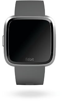 Charcoal Fitbit Versa Lite Watch Front