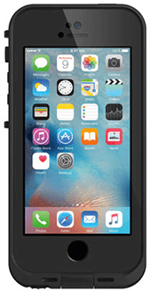 Black LifeProof FRĒ iPhone 5/5S/SE Case Front View